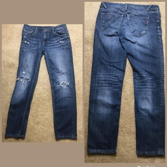 Vigoss Denim - Vigoss Distressed Jeans Thompson Double Roll Cuff